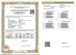 contoh capaian kompetensi SHUN